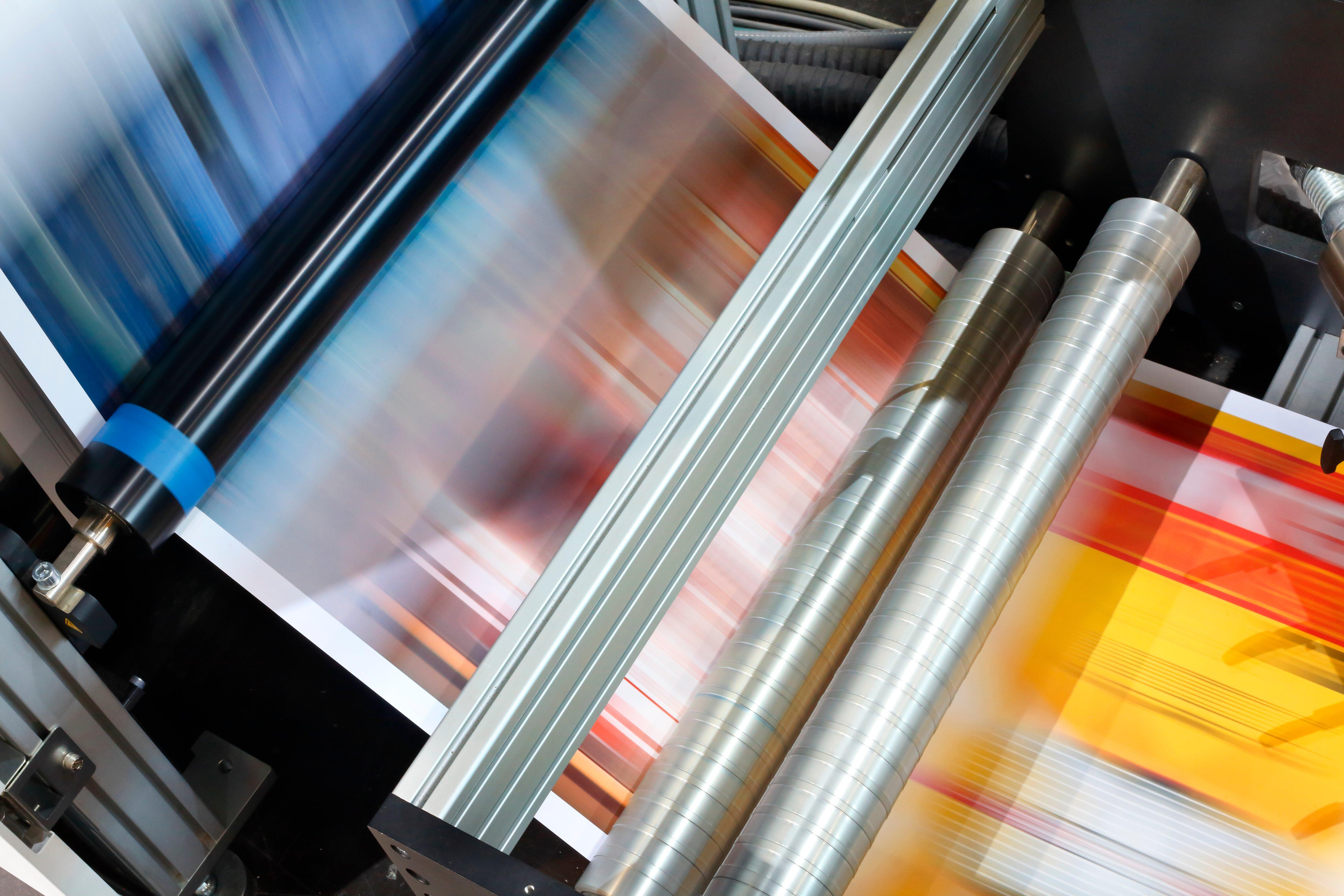 Printer in actie
