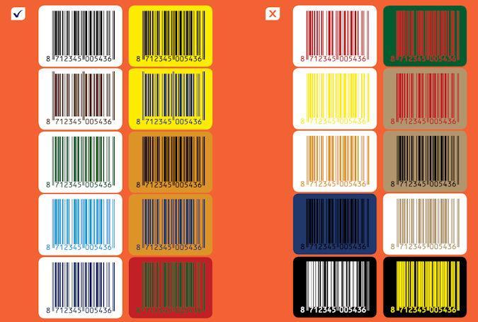 Kleuren combinaties barcode